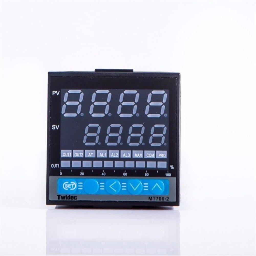 Haute qualité sortie 4-20mA double numérique PID régulateur de température MT700-2 Thermostat 100-240 V AC entrée PT100