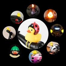Мультяшная утка, велосипедные колокольчики, детский Сияющий светильник для головы утки на руль, звуковые колокольчики, Аксессуары для велосипеда, горячая распродажа