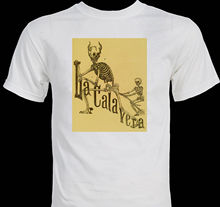 camiseta de esqueleto extraño la calavera catrina