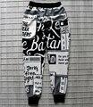 2016 Осень и зима новый стиль Европа 3D брюки Цифровая печать Английского алфавита тенденции моды Творческие штаны