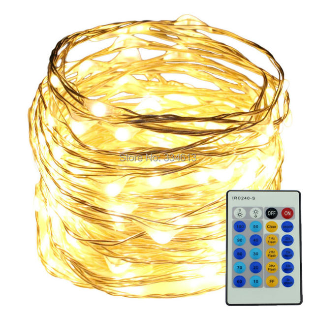 6m 20ft 120led Outdoor Silver Wire String Lights Christmas Festival Wedding Decorative Adapter