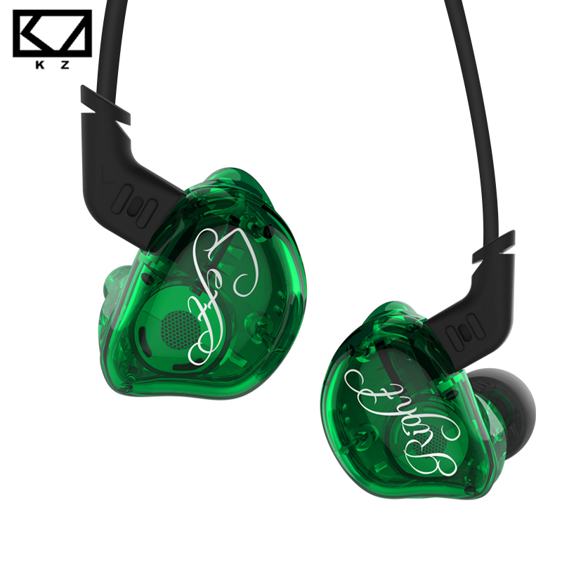 KZ ZSR Balanced Armature With Dynamic In-ear Earphone 2BA+1DD Unit Noise Cancelling Headset With Microphone Replacement Cable kz zs5 quad dynamic quad balanced armature octa hybrid driver in ear earphone earbud metallic blue and gray with microphone