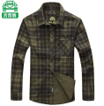 Plus Size M L XL XXL XXXL Army Green Men's Clothing Cotton Long Sleeve Plaid Shirts Men Casual Shirt