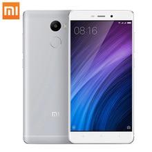 Оригинальный Xiaomi Redmi 4 2 ГБ оперативной памяти 16 ГБ ROM 5.0 дюймов Snapdragon430 Восьмиядерный 13MP 4100 мАч FDD LTE 4 г отпечатков пальцев ID мобильного телефона