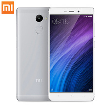 Original Xiaomi Redmi 4 2GB RAM 16GB ROM 5.0 Inch Snapdragon430 Octa Core 13MP 4100mAh FDD LTE 4G Fingerprint ID Mobile Phone