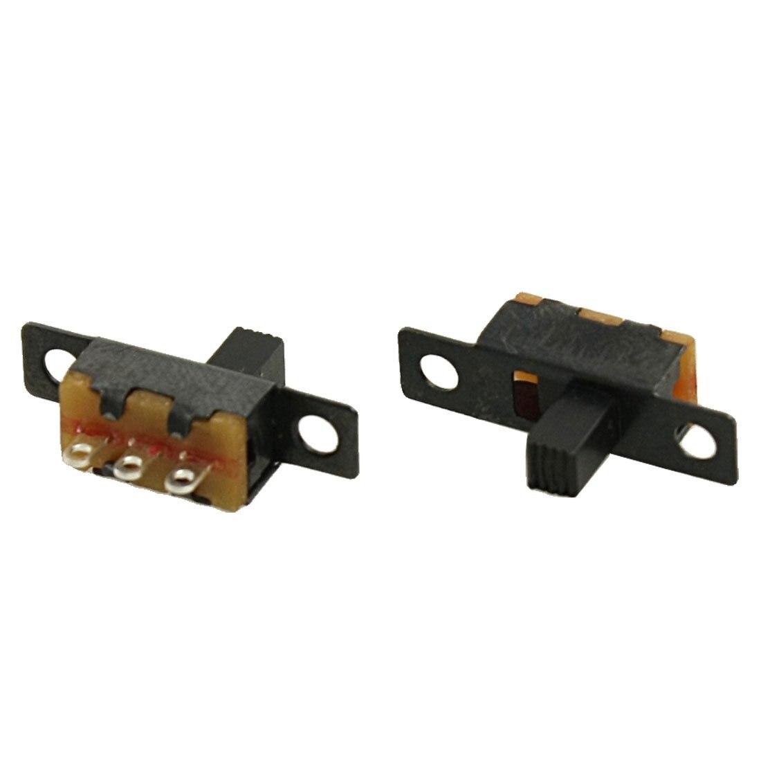 MYLB-5 шт с алюминиевой крышкой, 50В 0.5A 3 Pin 2 позиционный Выключатель вкл/выкл 1P2T SPDT ползунковый Переключатель 3 Pin