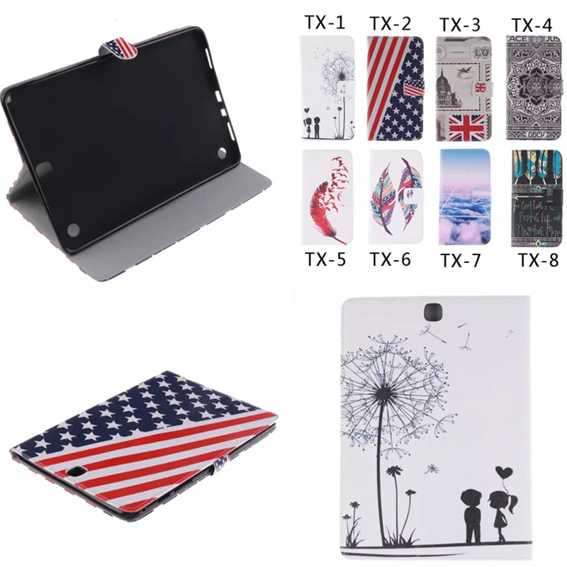 TX Painted US UK Flag Flip PU Leather Stand Cover For Samsung Galaxy Tab A 9.7 inch SM T550 P550 P555 T555C Cute Wallet Case bf luxury painted cartoon flip pu leather stand tablet case for funda samsung galaxy tab a 9 7 t555c t550 sm t555
