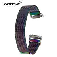 Milanese Loop Watchband Adapter For Samsung Gear Fit 2 SM R360 Watch Band Magnetic Buckle Strap