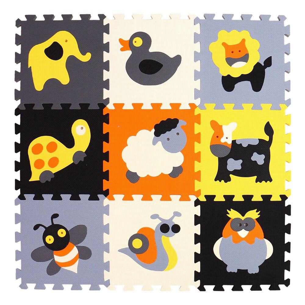 HTB1HsCzsA9WBuNjSspeq6yz5VXaO mei qi cool 9pcs/set baby play EVA foam puzzle mat /Cartoon EVA foam pad / Interlocking Mats for kids playmat
