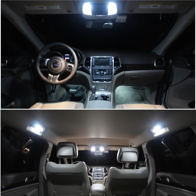 Tcart 14pcs Auto LED Bulbs Car LED Interior Lighting Kit Reading Lamp White Dome Lights For BMW E46 M3 car accessories 1999-2006