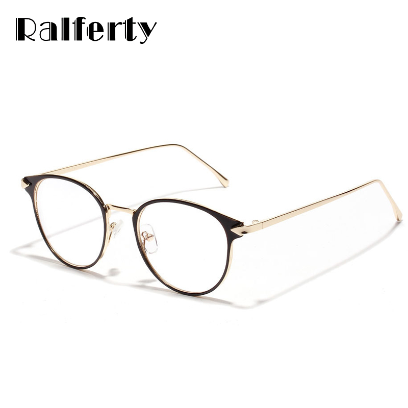 Ralferty Vintage Eyeglass Women Frame Myopia Optical Eyewear Frames Glasses Clear Pink Spectacle Oculos De Grau Feminino W3204