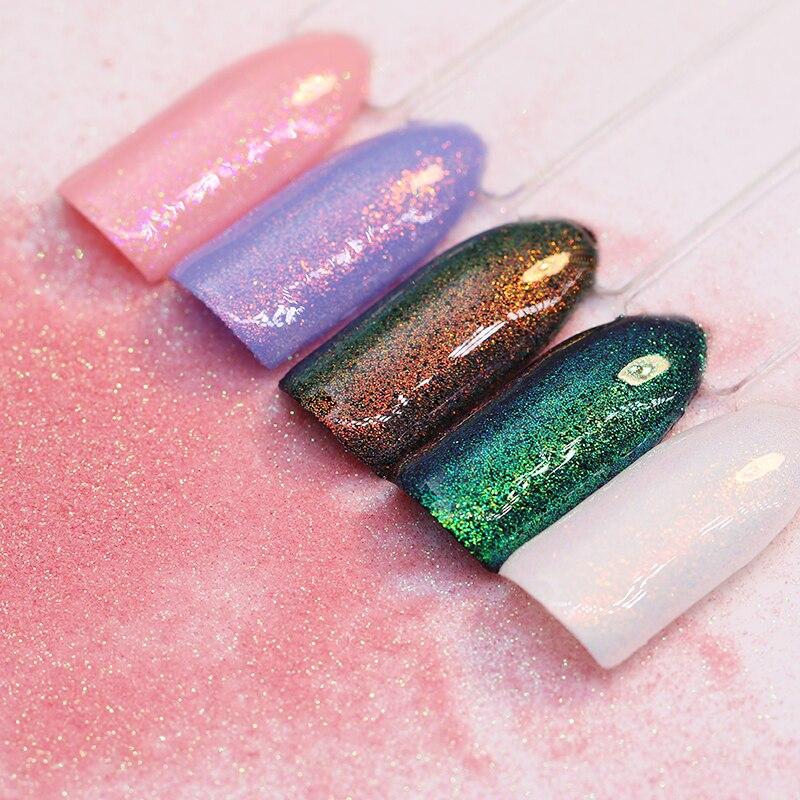 1.5g kaméleon sellő körömpor króm pigment manikűr csillogó - Köröm művészet - Fénykép 3