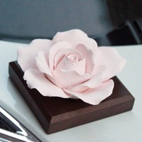 Car Styling Creative Interior Accessories Decor Handmade Refined Ceramic Aromatherapy Car Air Freshener Flower Ornaments Gift