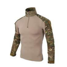 Multicam US Army Tactical Military Uniform Airsoft Camouflage Combat-Proven Shirts Rapid Assault Long Sleeve Shirt Battle Strike(China)