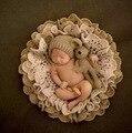 Newborn Fotografía Atrezzo Manta + Oso Sombrero + Oso Apoyos Fotografia Sombreros De Punto Bebé Apoyos de la Foto del Recién Nacido Accesorios de Fotografía
