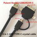 USB TYPE C 4 in 1 usb cable Charging and data syncAppliable to usb-c sonye xperiay z3 compact esamsung galaxye s5 case microusb