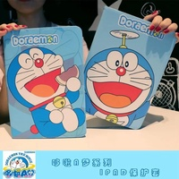 Tablet Case For Apple Ipad Air Ipad 5 Doraemon Cartoon Style PU Leather Protective Cover Stand