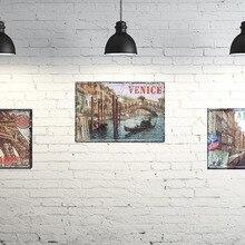 1 unidad Venecia París Amsterdam amor ciudad Italia Roma hojalata signo pared placas hombre cueva cafetería tienda póster clásico de Metal vintage