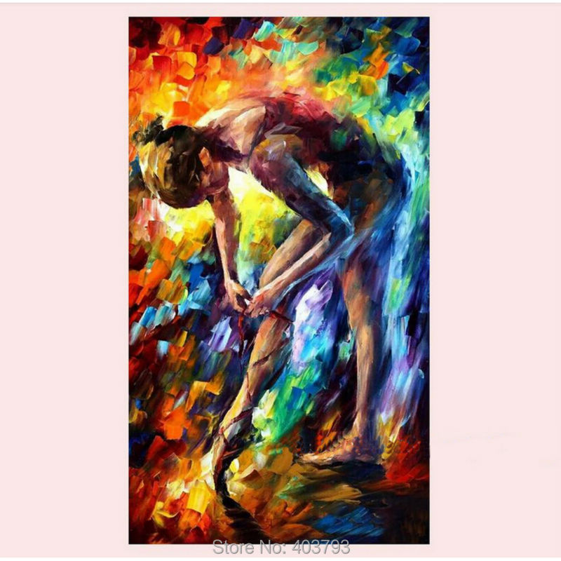 Hand painted Ballet girl Dancer Modern Abstract font b Knife b font Oil Painting On Canvas