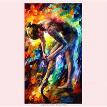 Hand painted Ballet girl Dancer Modern Abstract Knife Oil Painting On Canvas Home Decoration – Intl