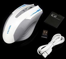 2016 NUEVA WEYES USB Para Juegos de Ordenador Ratón Inalámbrico Para PC Portátil Incorporado En la Batería Recargable Con Cable de Carga