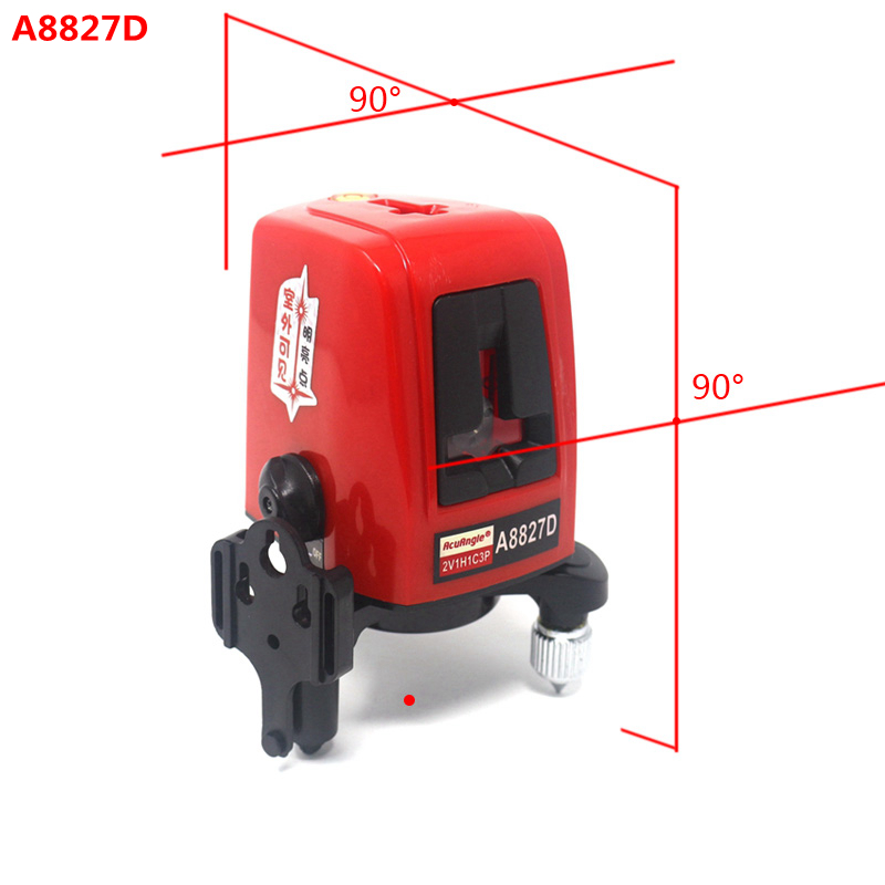 AcuAngle A8827D 3 Lines 3 points Laser Level 360degree Self-leveling Cross Laser Levels Red Line Measuring Tool for Construction linvel lv 8827 3 gold