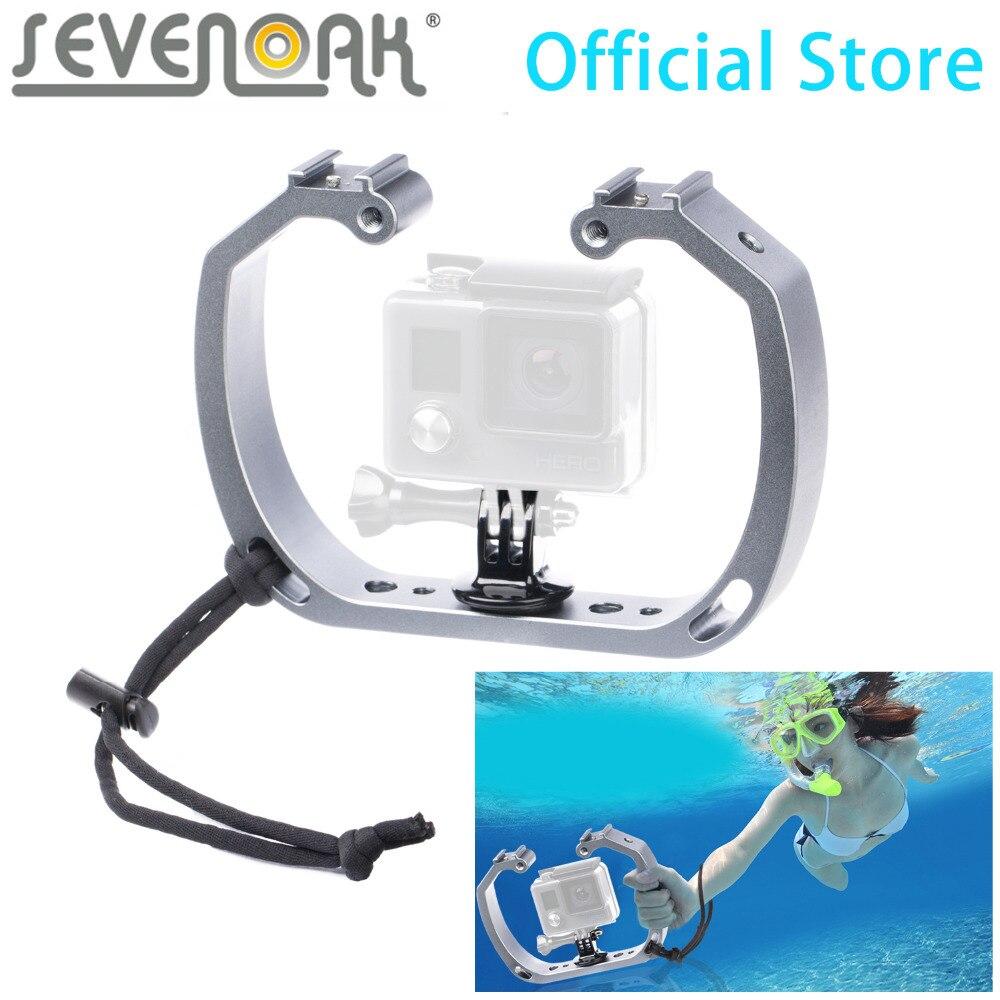Sevenoak SK-GHA6 Handheld Aluminum Video Cage Rig Stabilizer Frame Bracket Micro Film Making System for GoPro Action Camera