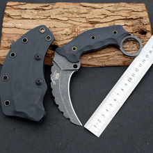 60HRC THE ONE AUS-8 Karambit Knife Fixed Blade Knife G10 Handle Survival Knives Hunting Tactical Knifes Camping Outdoor Tools 19