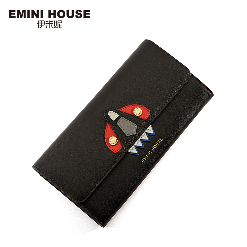 EMINI HOUSE Space Series Split Leather Wallet Women Long Wallets and Pruses Two-Fold zipper & Hasp Folding Wallet coin purse