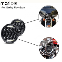 Marloo 1x Car 75W 7 Led Headlight H4 H13 High Low Beam Round Running Lights For