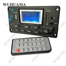 Bluetooth MP3 декодирующая плата модуль светодиодный Lyric 12 В DIY USB/SD/MMC WAV декодер Запись MP3 плеер AUX FM папки переключатель карт ридер