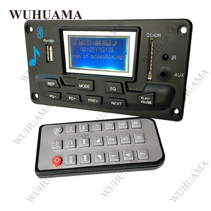 Car 5V Bluetooth MP3 Audio Decoder Board With 3W*2 Amplifier Radio AUX FD