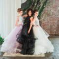 Gorgeous Organza Puffy Custom Made Ball Gowns Fashion Floor Length Skirt For Women Ruffles Tiered Skirts Black Pink Ivory