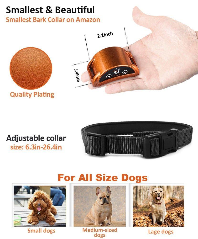 Paipaitek Upgraded Dog Bark Collar 45 Days Ultra Long Working Time Safe Effective Bark Stop Collar for Dog w/ Sound / Shock Mode 5