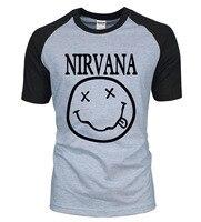 Hot Sale Nirvana Men T Shirt 2016 New Summer 100 Cotton Nirvana Fashion Brand Clothing Raglan