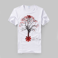 Rock Fashion Red Hot Chili Peppers Printing High Quality Cotton T Shirt Street Style