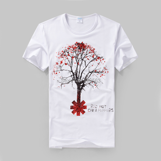 rock fashion Red Hot Chili Peppers printing high quality modal cotton  T-shirt street style e96f209a490