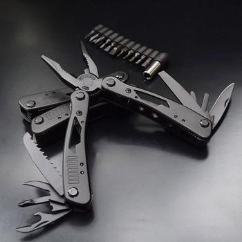 Bezpieczeństwo samochodu wielofunkcyjne Survival wielofunkcyjne szczypce ze stopu wolframu kieszonkowe narzędzia wielofunkcyjne nóż zestaw kempingowy tanie i dobre opinie Holowania liny Baterii Jazdy Firewire Skrzynka narzędziowa Torba Universal 0 5kg OLOMM