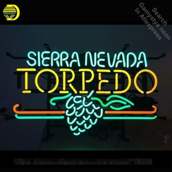Neon Sign for SIERRA NEVADA Torped Neon Tube sign grape handcraft Shop Hotel Store Displays Tube Glass Neon Flashlight sign