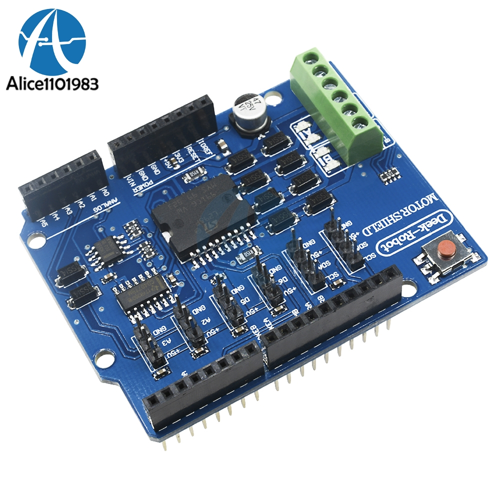 L298 L298P Shield R3 DC Motor Driver Shiled Board Module 2A Dual Full Bridge H-Bridge 2 Way 2CH For Arduino UNO Relay 5V 12VL298 L298P Shield R3 DC Motor Driver Shiled Board Module 2A Dual Full Bridge H-Bridge 2 Way 2CH For Arduino UNO Relay 5V 12V