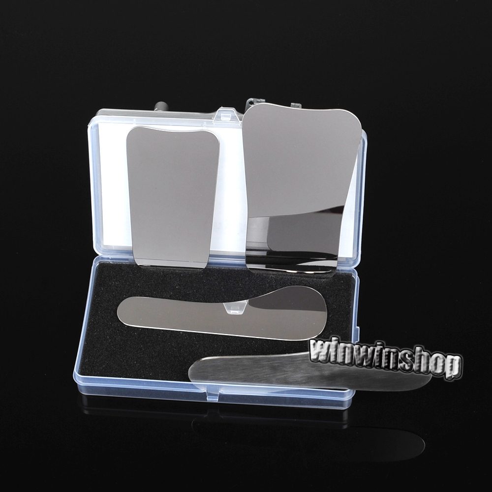 1pack/4PCS Dental Clinic Stainless Steel Photography Mirrors Orthodontic Intra-oral Mirrors
