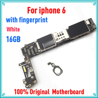 16gb White for iphone 6 Motherboard with Touch ID,Original unlocked for iphone 6 Logic boards with IOS System,100% Good Working