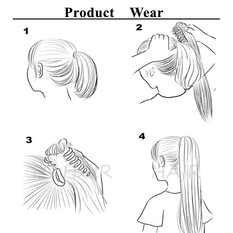 Claw clip ponytail wear