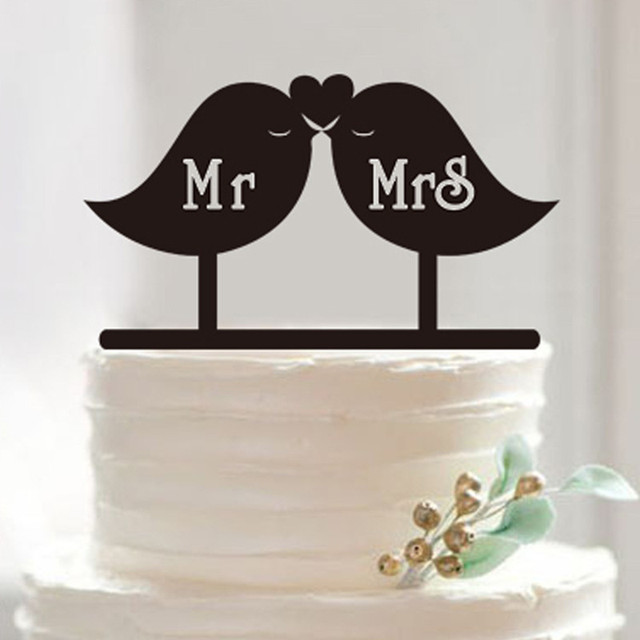 Sweet love bird cake topper mrmrs wedding cake topper acrylic cake sweet love bird cake topper mrmrs wedding cake topper acrylic cake stand wedding cake decorations accessories junglespirit Image collections