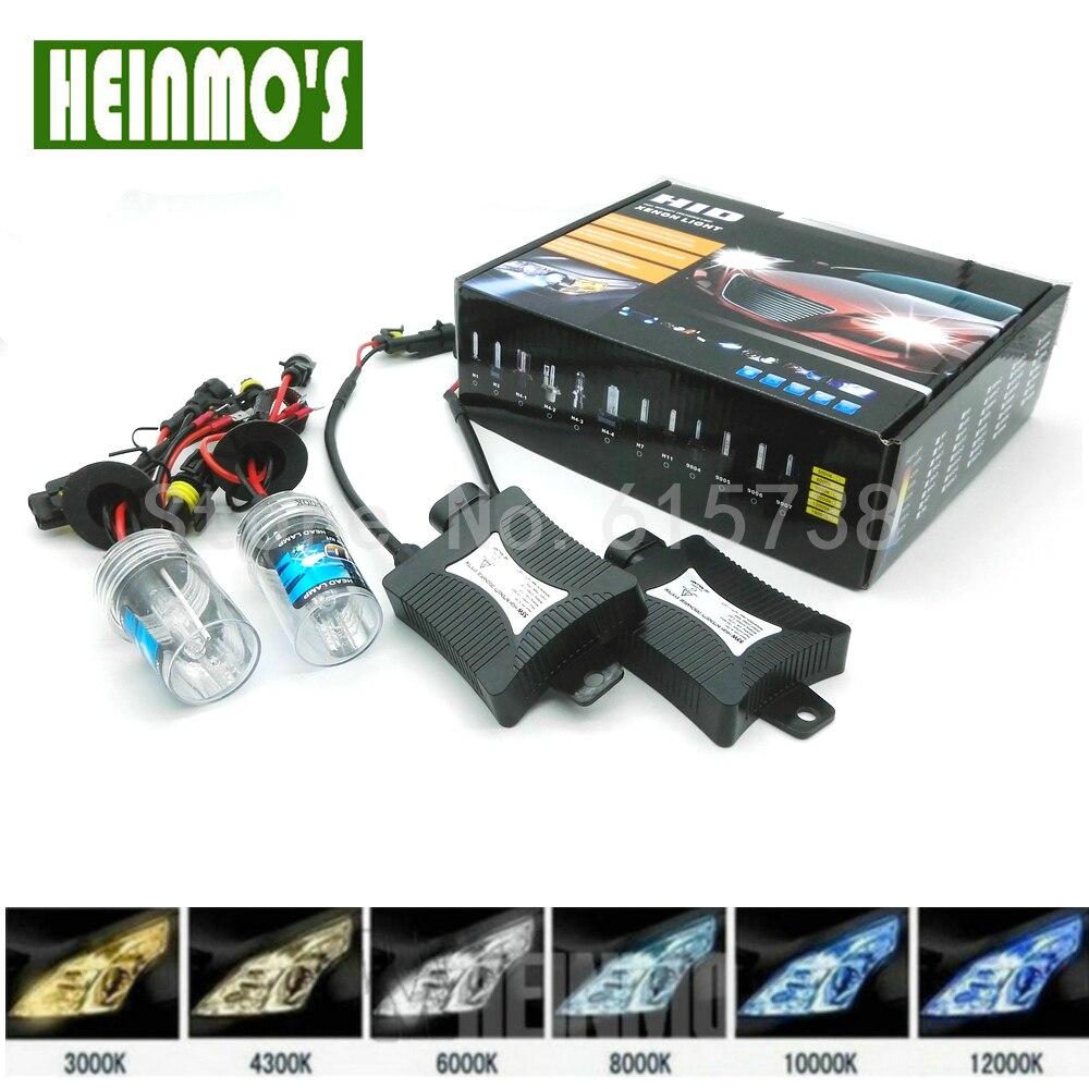 55W Xenon Ballast Bulb HID KIT Light Car Headlight Fog DRL Lamp H1 H3 H7 H8 H9 H11 880 881 9005 HB3 9006 HB4 6000K