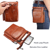 Genuine Cow Leather Hook Loop Clip Shoulder Belt Mobile Phone Case Pouch For iPhone X,For iPhone 8/8 Plus,For iPhone 7/7 Plus