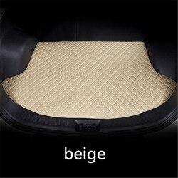 Skóra samochodu mata do bagażnika cargo dywan dla Citroen C3 C4 C5 DS Quatre Triomphe Elysee caogo liniowej na