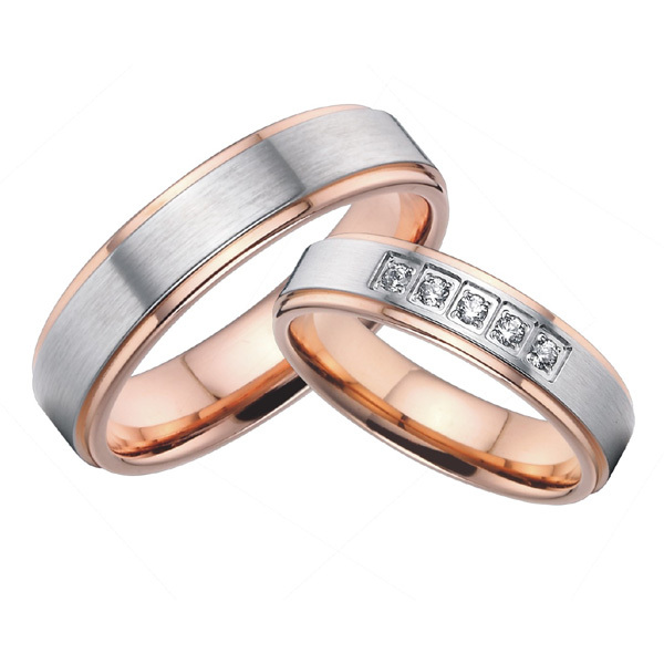 2017 Beautiful Rose Gold Color Anium Steel Wedding Bands Promise Rings Sets For Him And Her S Alliances In From Jewelry Accessories