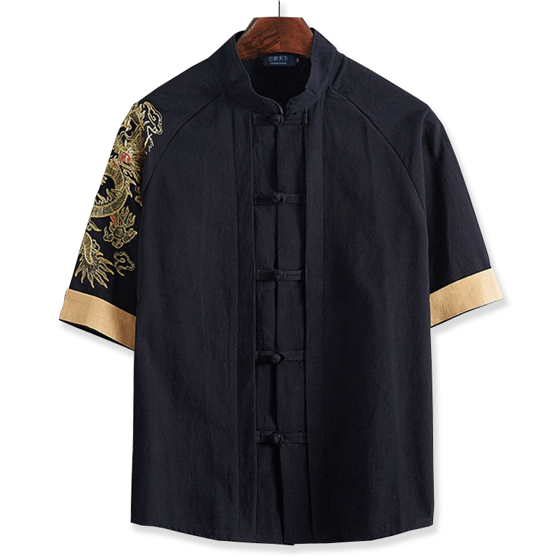 Free shipping short-sleeve T-shirt 7XL 8XL 10XL 165cm Linen male big o-neck t shirt Chinese style fat guy plus size men's Casual