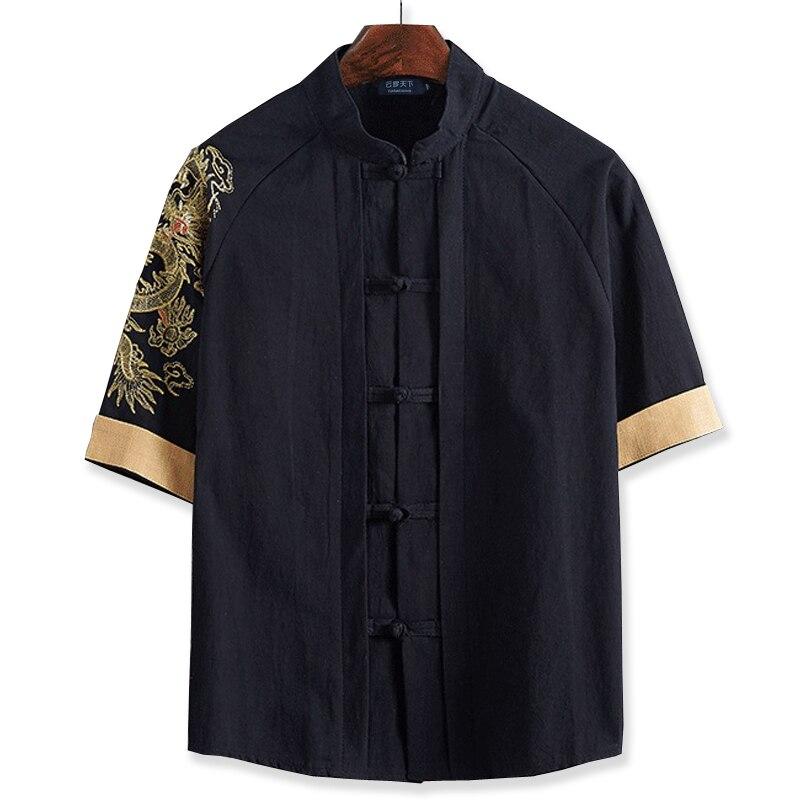 Livraison gratuite manches courtes T-shirt 7XL 8XL 10XL 165 cm Lin mâle gros o-cou T-shirt style Chinois gros grande taille homme décontracté